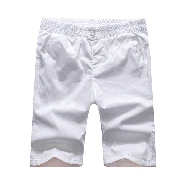 短褲.造型褲.夏日必備.情侶褲.休閒短褲.簡約素面休閒短褲【BN3852】艾咪E舖 5