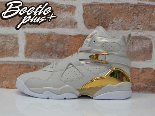 女生 BEETLE NIKE AIR JORDAN 8 RETRO C&C 冠軍 喬丹 白金 愷樂 833378-030 0