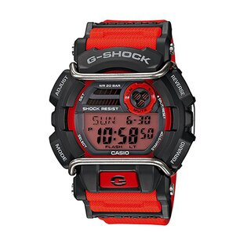CASIO G-SHOCK GD-400-4酷紅流行腕錶/50mm
