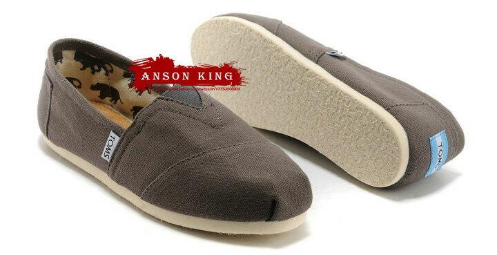 [女款] 國外代購TOMS 帆布鞋/懶人鞋/休閒鞋/至尊鞋 帆布系列  灰色 0