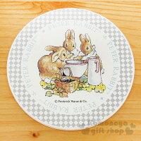 野餐籃打造貴婦風格〔小禮堂〕彼得兔 陶土藝術杯墊《米白.喝湯.野餐籃.水壺》英式鄉村風情