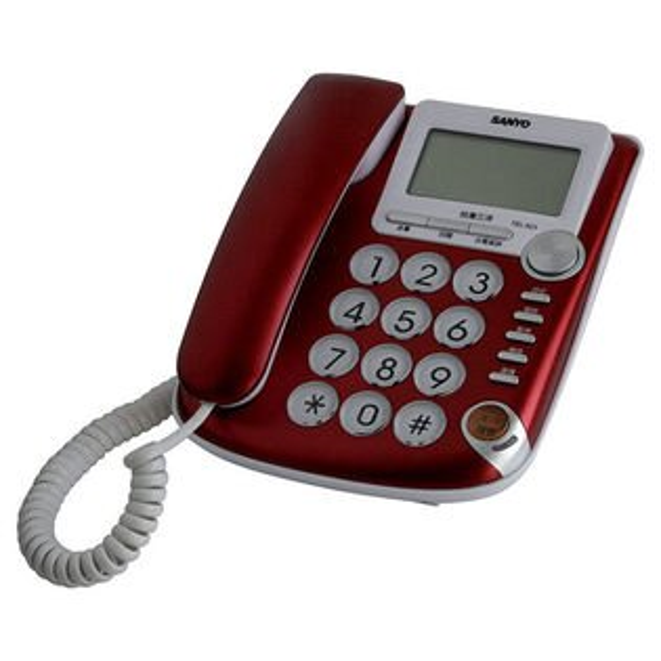 SANYO 三洋 TEL-823 超大螢幕來電顯示有線電話機