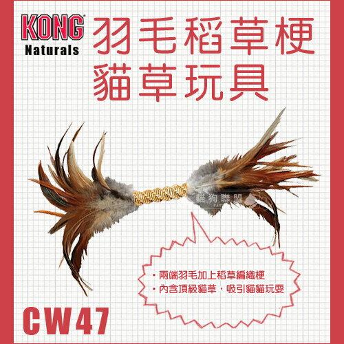 +貓狗樂園+ KONG【Naturals。羽毛稻草梗貓草玩具。CW47】170元 - 限時優惠好康折扣