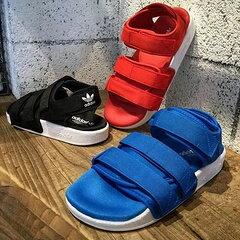 adidas ADILETTE SANDAL W  黑 藍 紅 三色 夏日必備