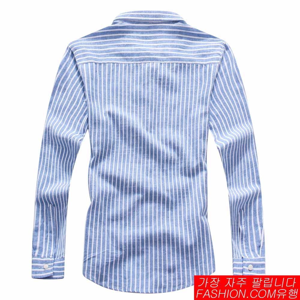 DITION 職人商務粗直條紋極簡長袖襯衫 4