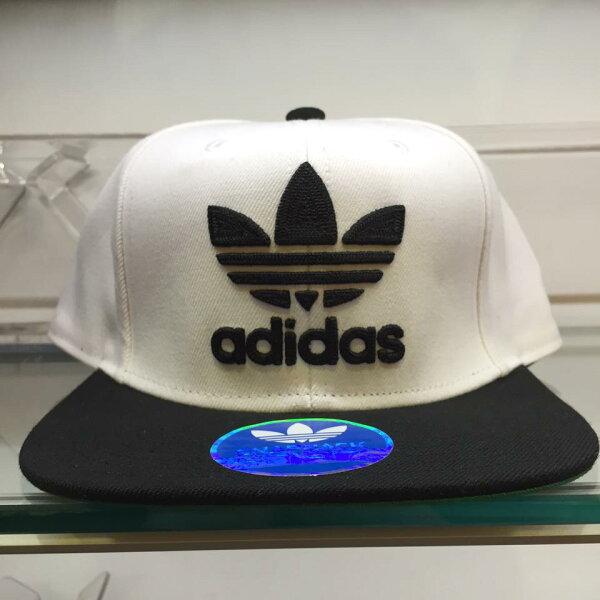 超熱賣 BEETLE ADIDAS ORIGINALS THRASHER 白黑 後扣棒球帽 貝克漢 SNAPBACK