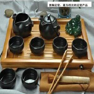 【自在坊】 企鵝壺款 (一壺一茶海六杯組 +贈送茶席竹杯墊)  定窯 茶具 冰裂開片功夫茶具 品茗杯 茶壺 茶海  自在坊