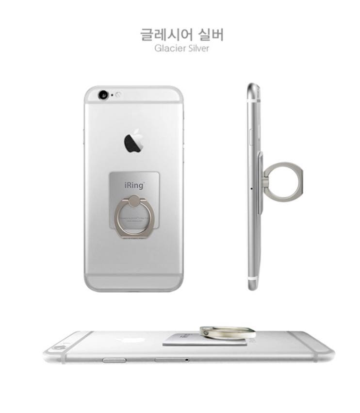 韓國iring側立支架手機指環 4