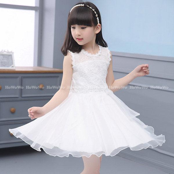中大童短袖洋裝 蕾絲紗紗連身裙 背心裙 蓬蓬裙小禮服 FM1965