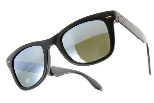 Ray Ban 雷朋 水銀鏡 霧黑 太陽眼鏡 RB4105 摺疊 2