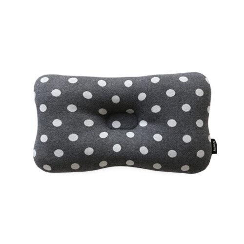 韓國【 Borny 】3D透氣純棉塑型嬰兒枕(6個月以上適用) (灰底白點) 0