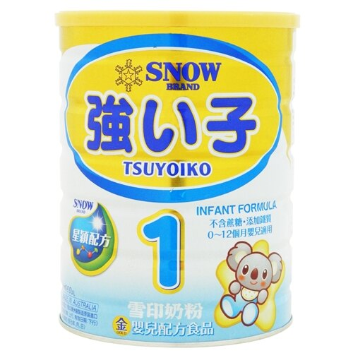 (買6送1)雪印金強子奶粉#1 900g