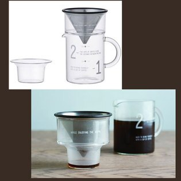 KINTO 金屬濾網 300ml 四件式手沖咖啡壼 兩人份 2CUPS 日本帶回 免耗材