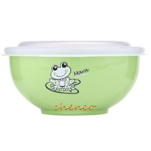 【晨光】Zebra斑馬牌 彩色隔熱兒童碗附湯匙-綠 (842023)