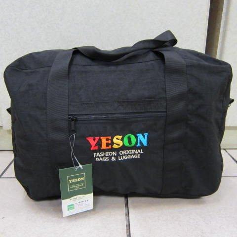 ~雪黛屋~YESON 備用型旅行袋 折疊收納袋 批發袋 採購袋環保購物袋高單數防水尼龍布#429-18黑