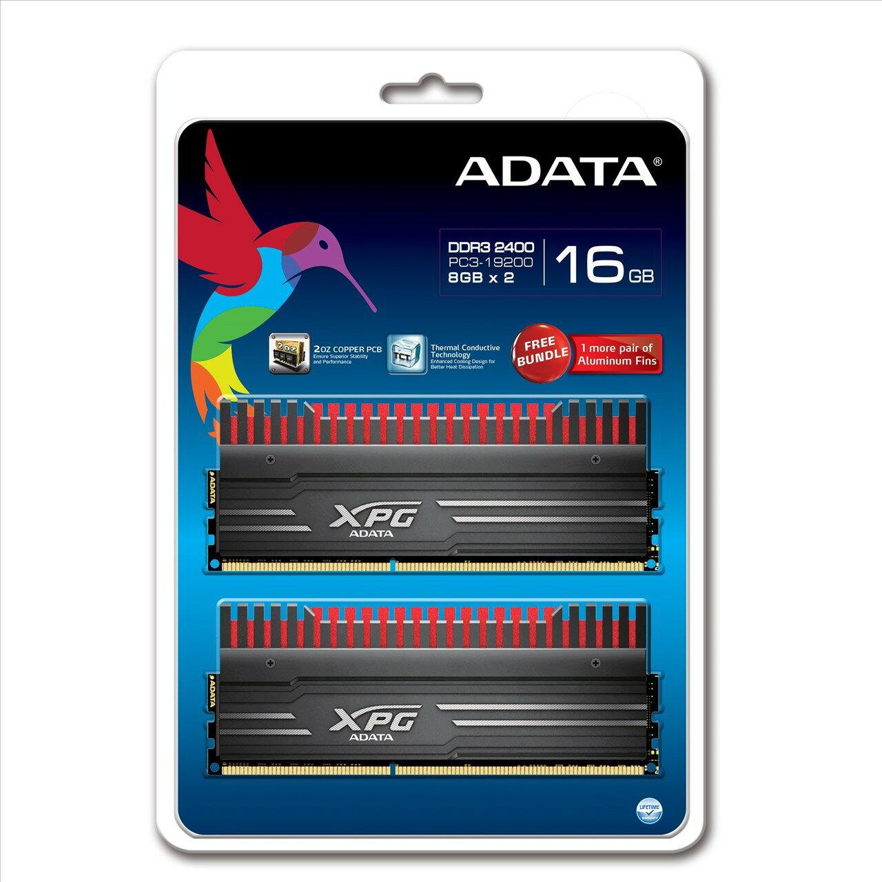 *╯新風尚潮流╭*威剛 XPG V3 超頻 16G DDR3-2400 11-13-13-35 AX3U2400W8G11-DBV-RG