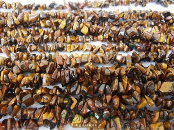 白法水晶礦石城 南非 天然-黃虎眼石 6mm至9mm(有穿孔) 礦質 碎石 串珠/條 首飾材料(一件不留出清五折區)