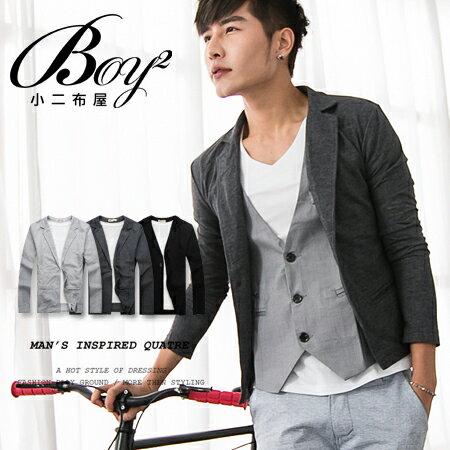 ☆BOY-2☆【PPK88015】韓式休閒素面西裝外套