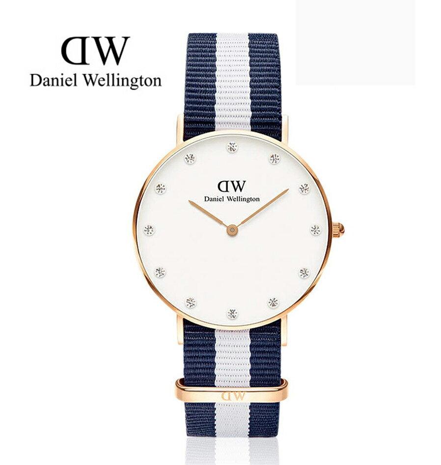 瑞典正品代購 Daniel Wellington 0953DW  玫瑰金 尼龍 帆布錶帶 女錶手錶腕錶 26MM 0