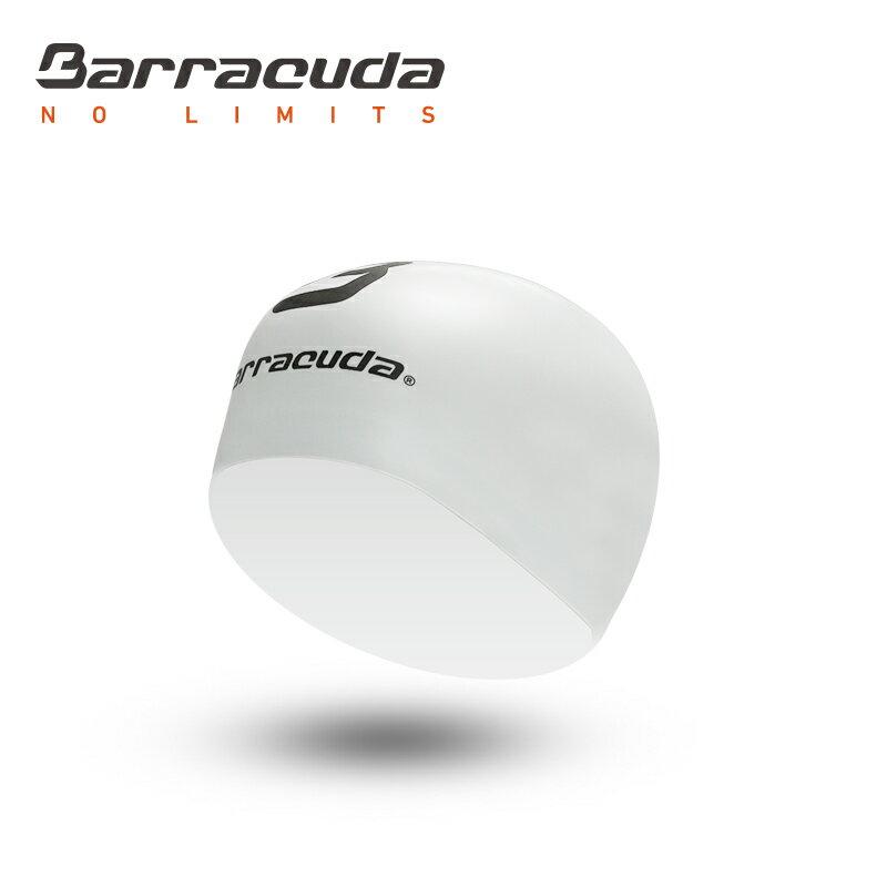 美國巴洛酷達Barracuda成人矽膠3D泳帽-白色 - 限時優惠好康折扣