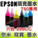 【浩昇科技】EPSON 250C.C.(單瓶) T50專用 填充墨水 連續供墨專用
