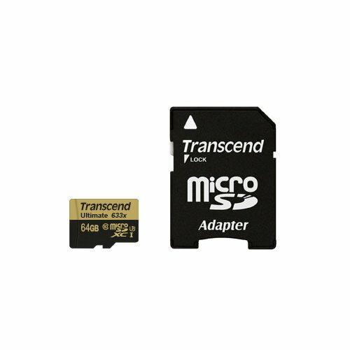 *╯新風尚潮流╭* 創見 micro SDXC記憶卡 64G 64GB C10 U3 633x TS64GUSDU3