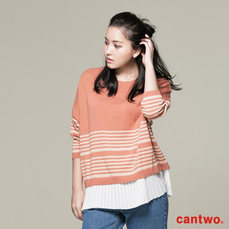 cantwo條紋後釦針織上衣(共三色) 1