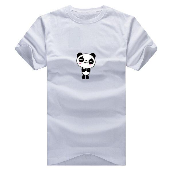 ◆快速出貨◆T恤.親子裝.情侶裝.班服.MIT台灣製.獨家配對情侶裝.客製化.純棉短T.瞇瞇眼貓熊【YC413】可單買.艾咪E舖 8