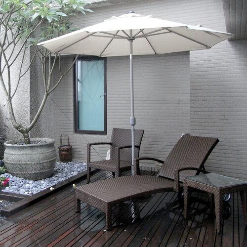 HAVANA 哈瓦那 單人沙發 戶外家具【7OCEANS七海休閒傢俱】TIGER 咖啡混色 1