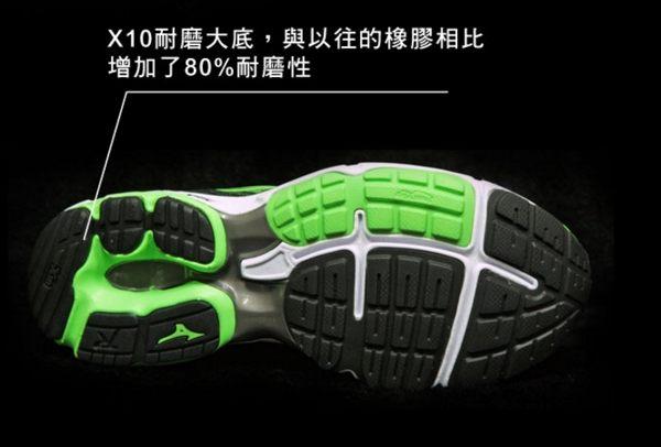 Mizuno美津濃 男款慢跑鞋 WAVE RIDER 19 一般型 -翠綠黑 4