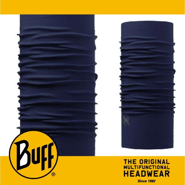 BUFF 西班牙魔術頭巾 經典系列 [深藍黯藍 素面頭巾] BF108833