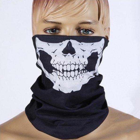 PS Mall 無縫多功能魔術頭巾 百變頭巾 保暖圍脖 萬聖節道具 骷髏頭面罩【J2124】