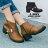 格子舖*【KW9376】MIT台灣製 韓版摩登皮革時尚金屬 拉鍊穿拖 舒適好走5CM中粗跟短靴 2色 0