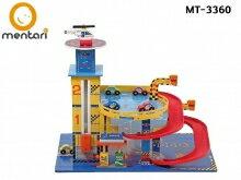 木製玩具 小汽車軌道 酷炫迴旋立體停車場 | Mentari 男孩系列