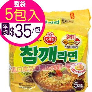 韓國不倒翁 芝麻風味拉麵 泡麵 (袋裝5包入)[KR061A] 0