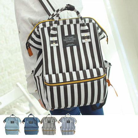 後背包 流行學院風大容量雙肩包帆布包【O3019】☆雙兒網☆ 3