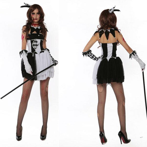 萬聖節鬼節小丑裝舞台halloween女魔術師夜店派對COS服舞會派對服