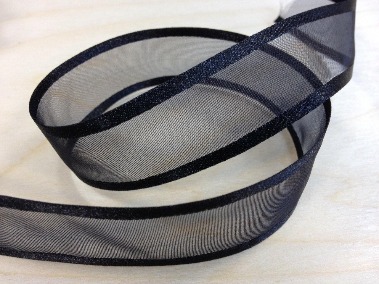 緞邊雪紗緞帶25mm 3碼裝(26色) 6