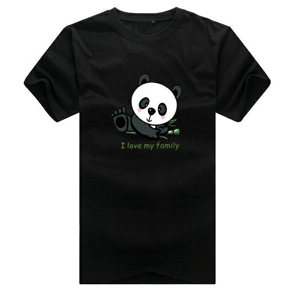 ◆快速出貨◆T恤.親子裝.情侶裝.班服.MIT台灣製.獨家配對情侶裝.客製化.純棉短T.大貓熊家族【YC407】可單買.艾咪E舖 3