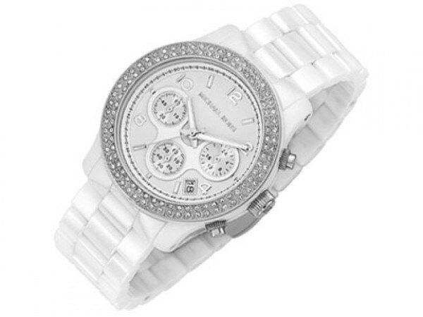 美國Outlet正品代購 MichaelKors MK 陶瓷 水鑽 三環 手錶 腕錶 MK5188 3