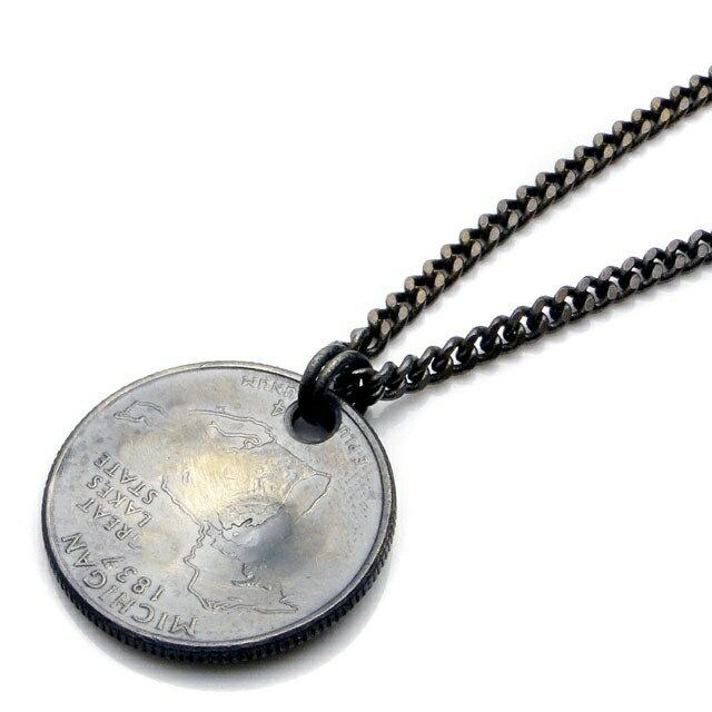 【海外訂購】【amp japan】HOPE 錢幣純銀鑽石項鍊(AMP-11AD-214  0608590000) 1