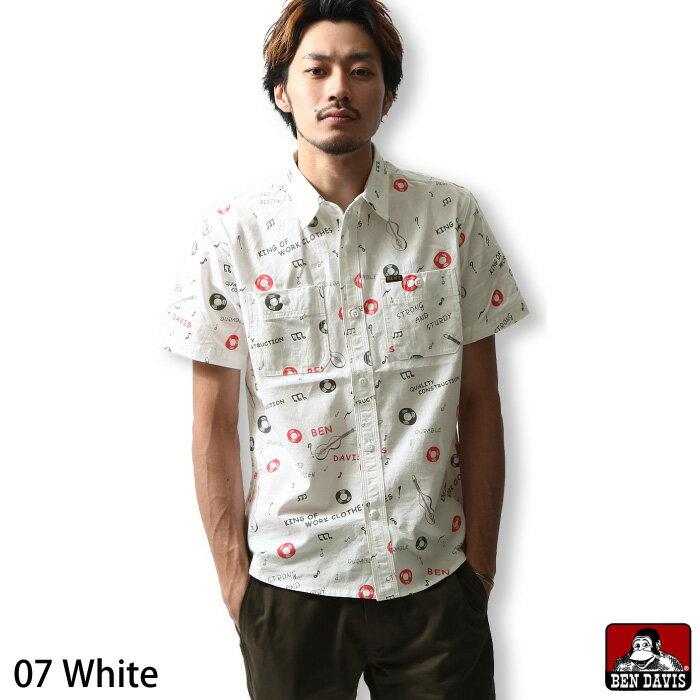 工作襯衫 短袖 滿版印花 BEN DAVIS 日本男裝 超商取貨 zip-tw【g-6580006】