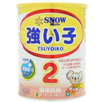 『121婦嬰用品』雪印金強子較大嬰兒2號900克(6罐組,再送1罐)