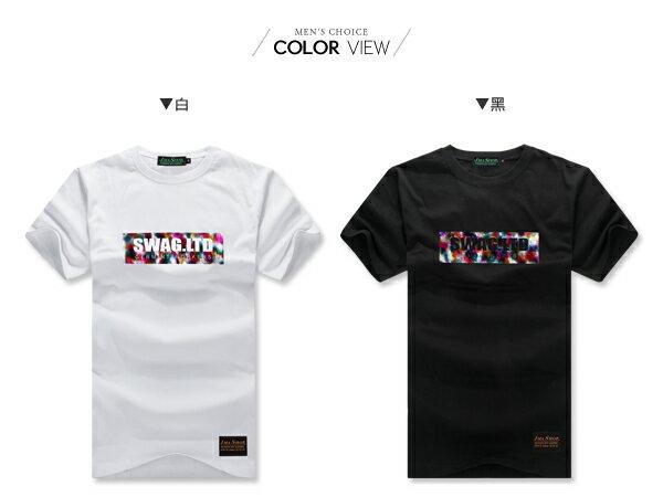 ☆BOY-2☆ 【JJ758】情侶潮流文字彩虹燙金短袖T恤 1
