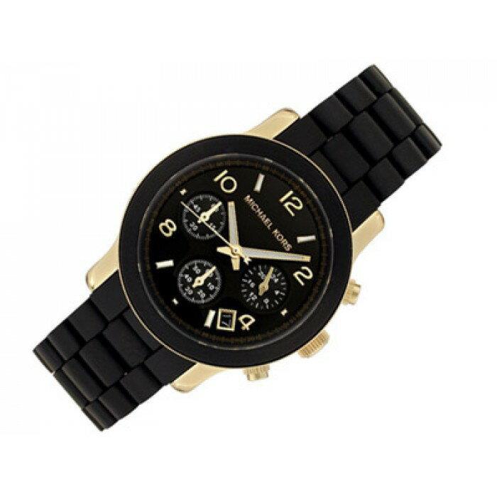 美國Outlet正品代購 MichaelKors MK 黑色橡膠 三環 運動風手錶腕錶 MK5191 3