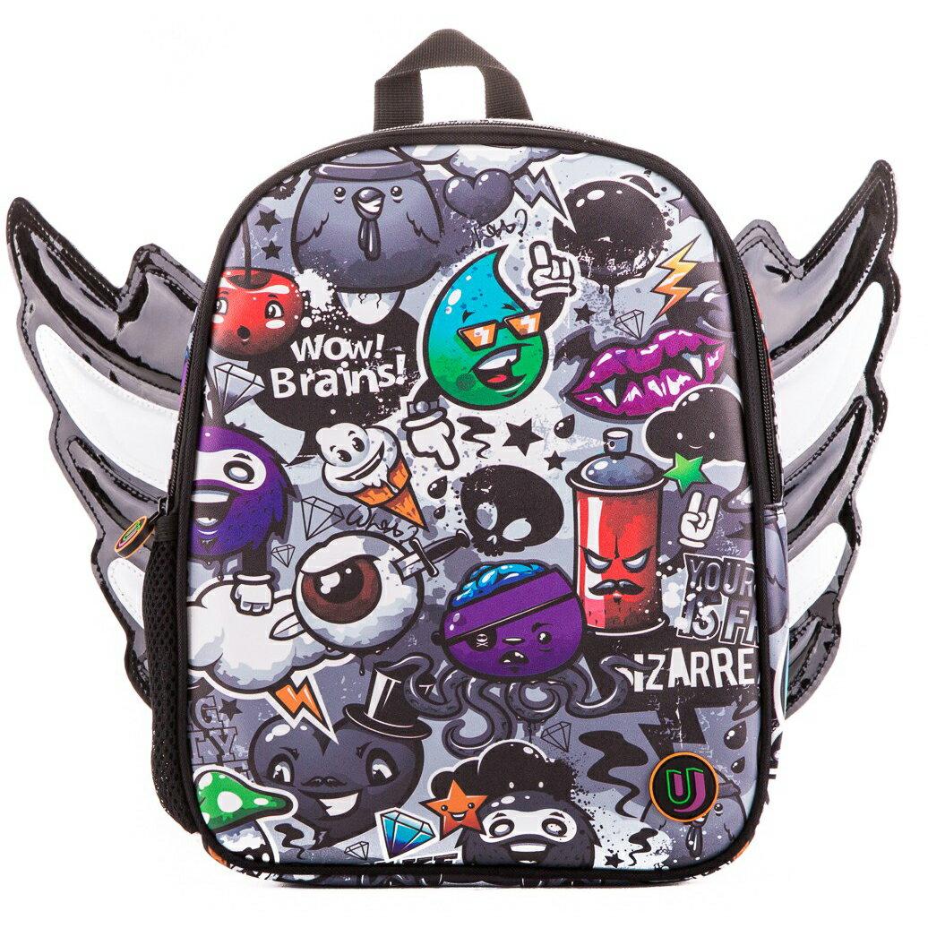 Urban Junk Fly High Junky Mini Backpack (b&w wings) 0