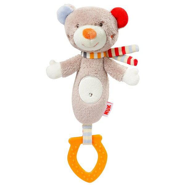 『121婦嬰用品館』NUK 小熊玩偶搖鈴固齒器 0