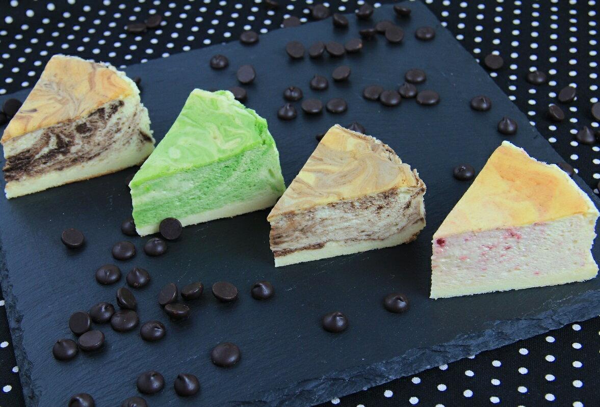 【三木烘焙工房】首創半熟乳酪⇧進階版 理石紋 苦甜巧克力x草莓x日式抹茶 1