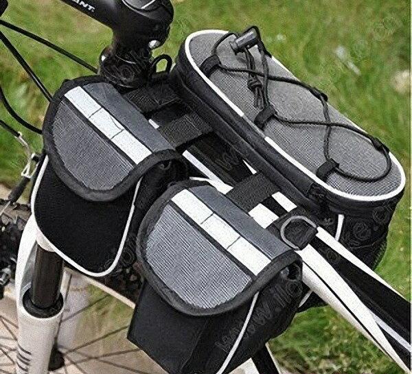 【露營趣】中和 TNR-095 單車/自行車可肩背上管包 馬鞍包 馬鞍袋 雙邊包 車前包 置物袋