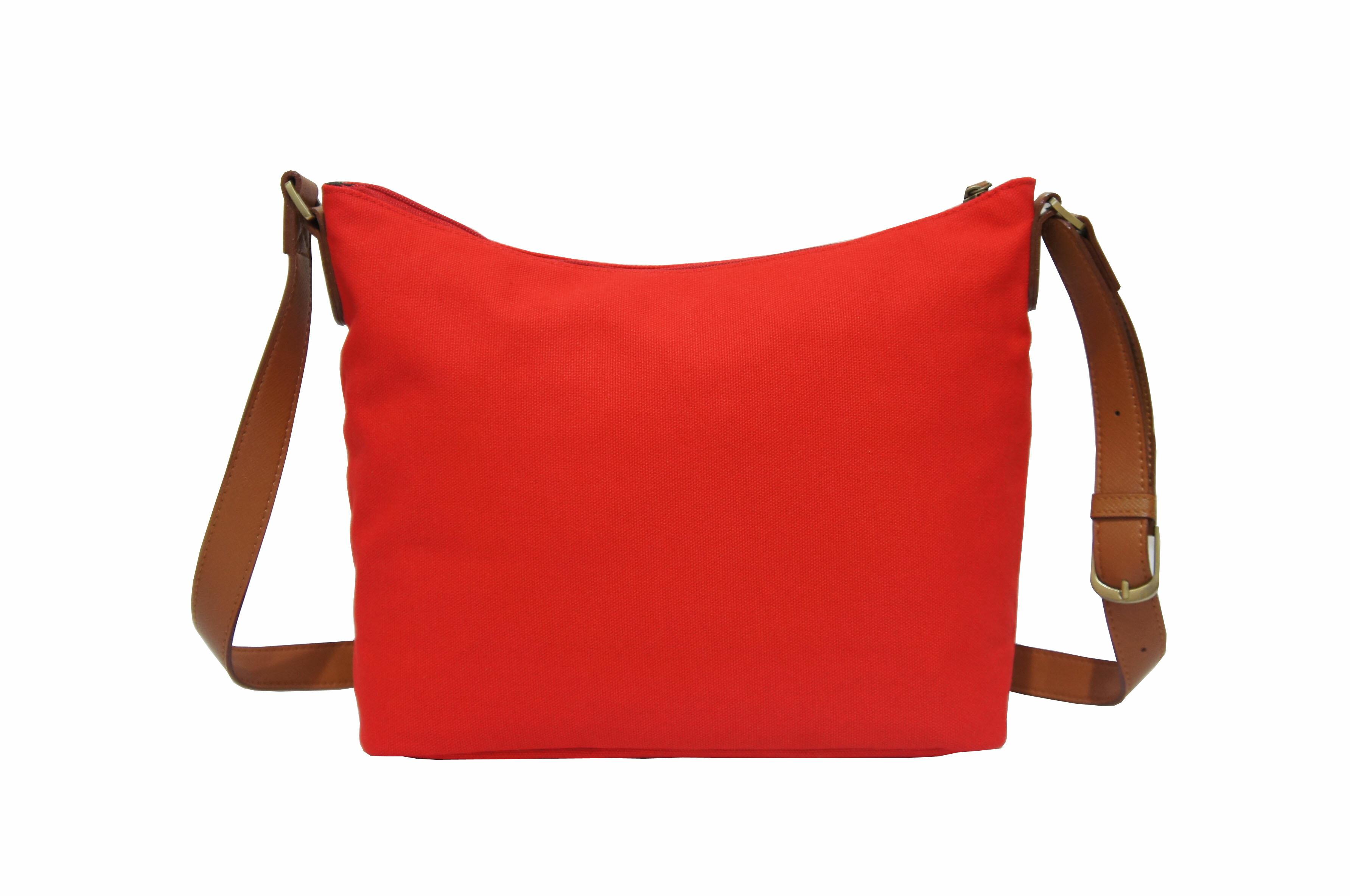 CP024帆布手提肩背包共2色 紅/馬卡龍綠 4